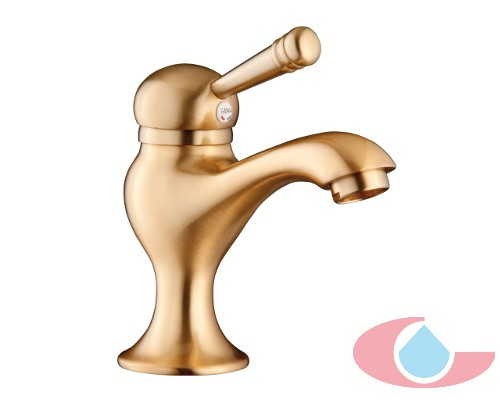 Monomando de lavabo lanuza oro mate 20004
