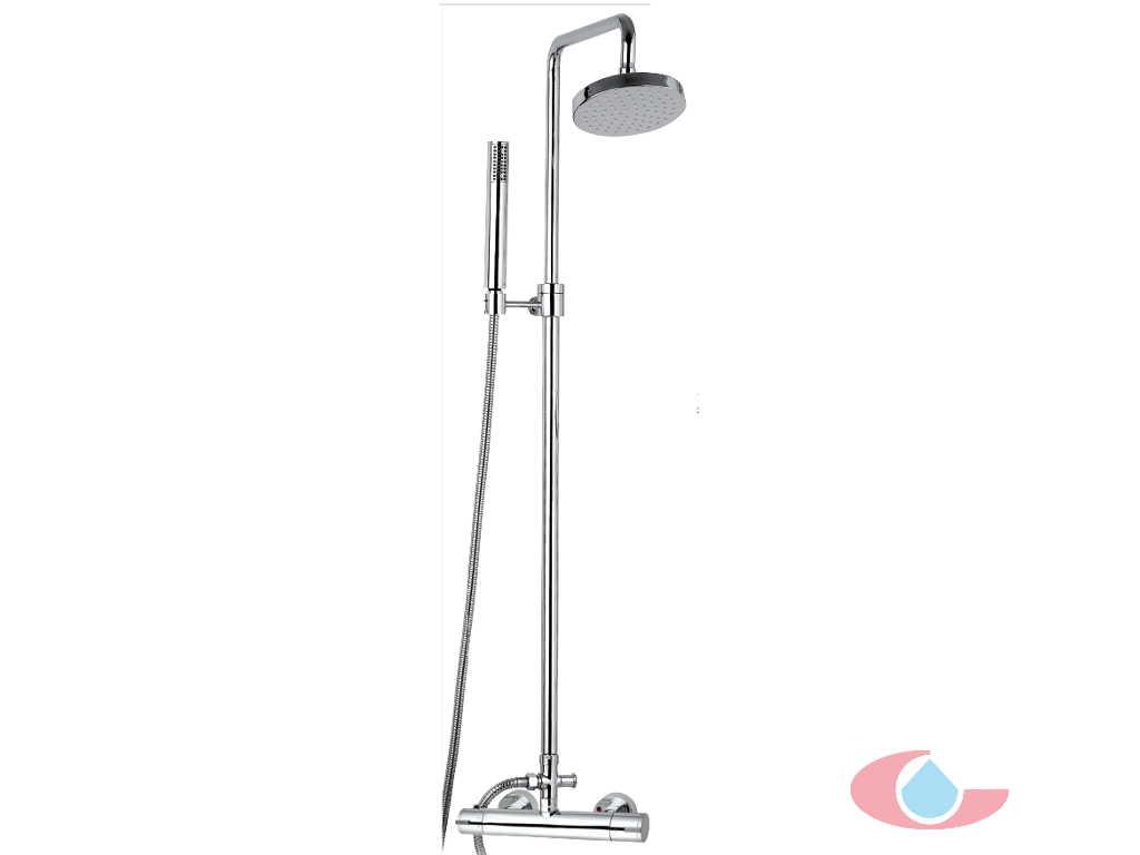 Griferia Para Baño Economica:Conjunto Termostático ducha Iris Telescópica rociador latón Ø 20