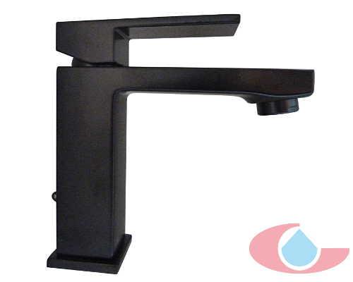 monomando lavabo Tizziano negro