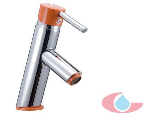 Monomando lavabo Ibón cromo naranja 10034