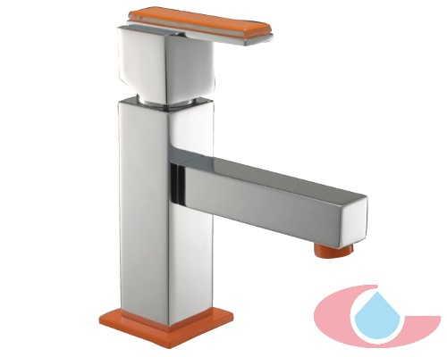 Monomando lavabo Soralla cromo naranja 10054