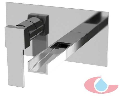 Monomando lavabo mural de empotrarTizziano Cromo 80026