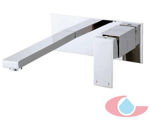 Monomando lavabo mural de empotrarTizziano Cromo 80116