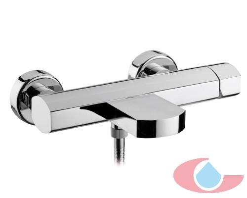 Mezclador termost tico ba o oval con equipo ducha cromo for Griferia economica precios