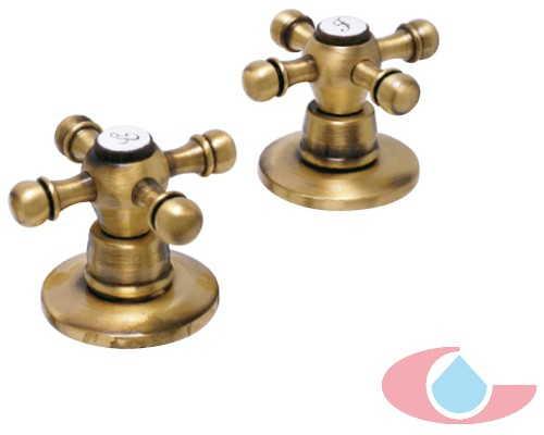 Juego grifos bid bronce grizasa for Juego de grifos de bano