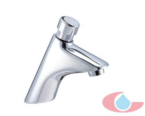 Grifo lavabo alto temporizado cromo 40122