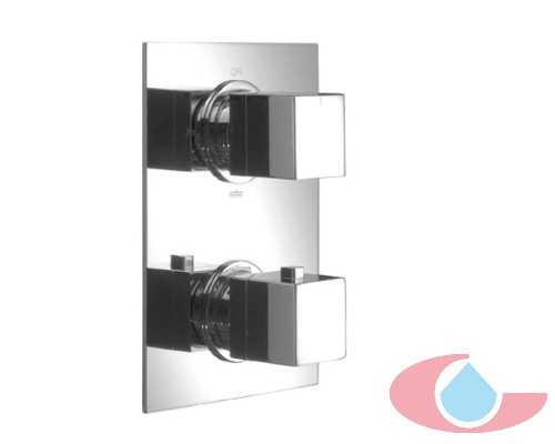 Mezclador termost tico ducha gaud de empotrar cromo grizasa for Mezclador grival ducha