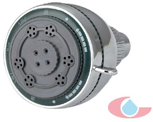 Rociador orientable de 5 funciones Cromo Ø 7,5 cm 30049