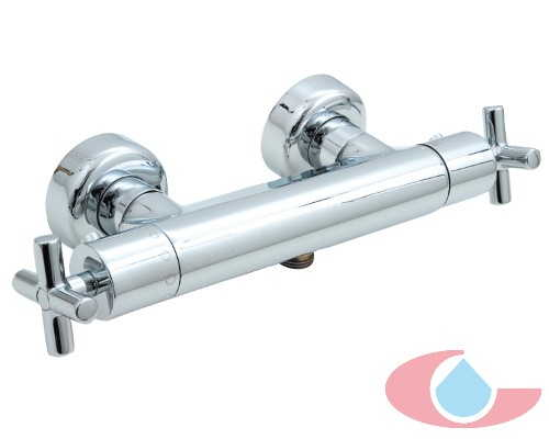 Serie Jalón 1212 mezclador termostatico ducha con equipo ducha sistema economizador ecostop Cromo