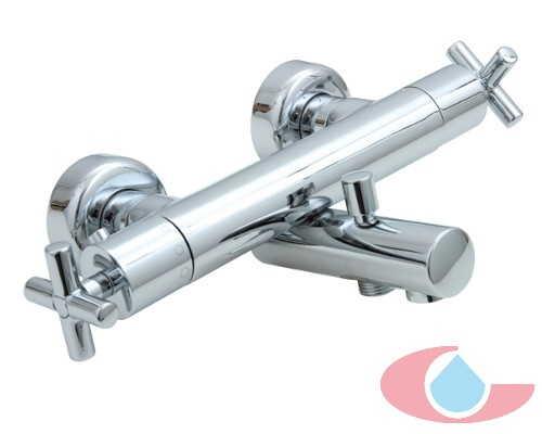 Serie Jalón1209 mezclador termostatico baño con equipo ducha  sistema economizador ecostop Cromo