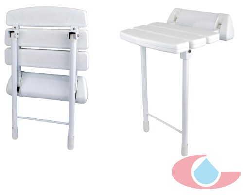 asiento plegable de baño blanco 5554