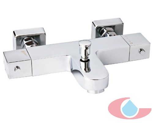 Mezclador Termostático baño Quattro con equipo Ducha cromo 50209