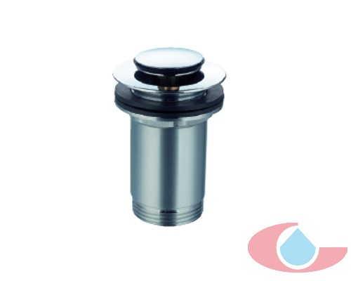 válvula clic-clac mini, tuerca cilíndrica , rebosadero latón cromo 5546