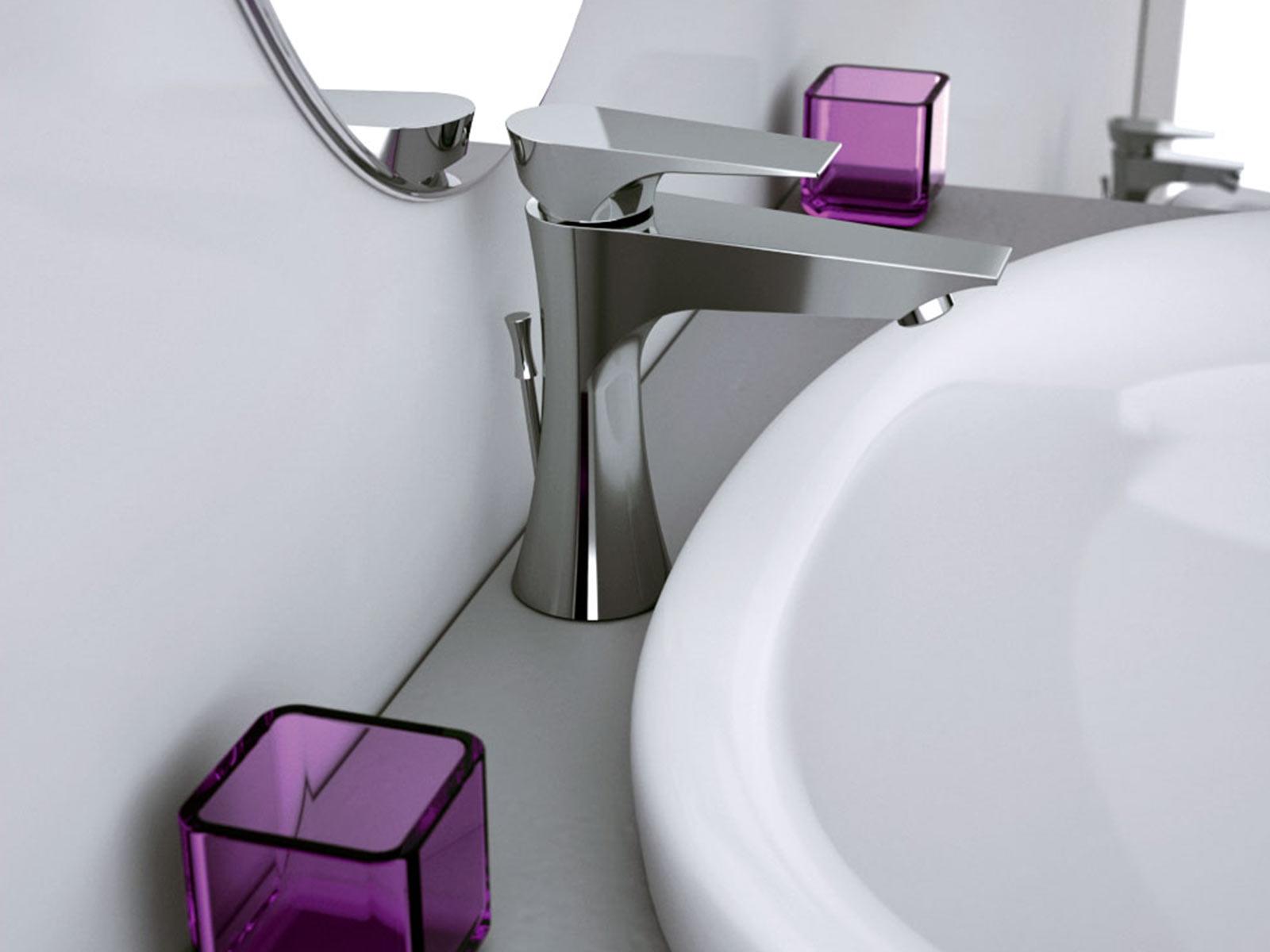 Monomando lavabo Athenea , cromo.