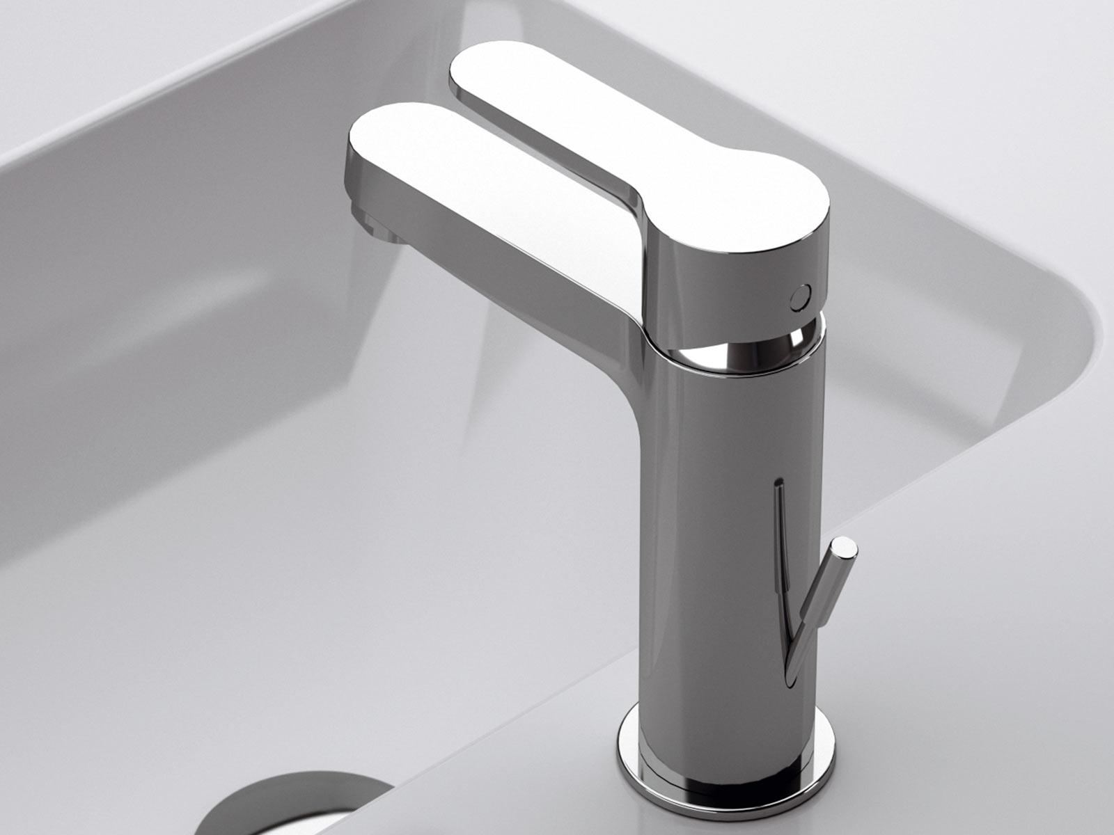 Monomando lavabo Ainsa, cromo.