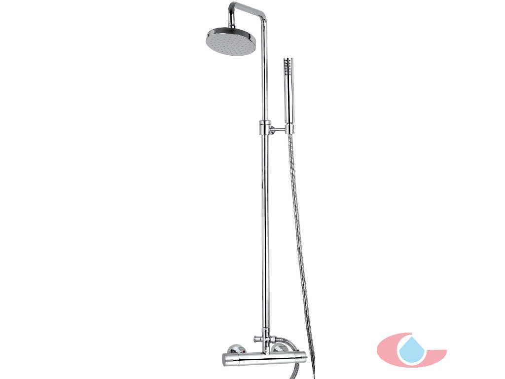 Conjunto termost tico ducha ib n telesc pica rociador for Monomando termostatico ducha