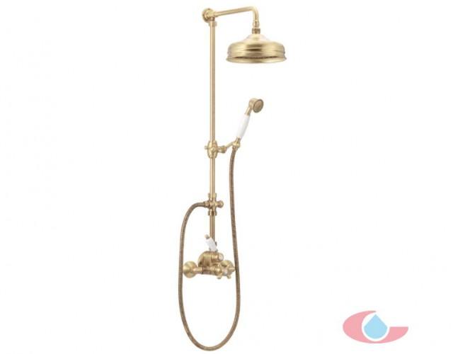 5018Conjunto ducha termostatico mural rociador laton