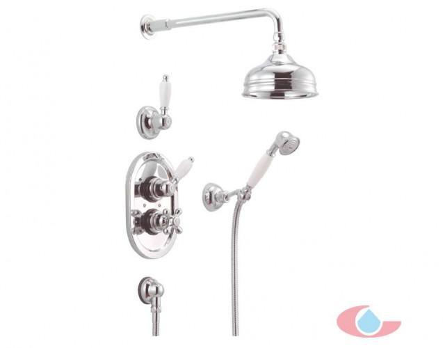 5028 Conjunto ducha Epoca termostatica empotrado rociador latón 15 cm