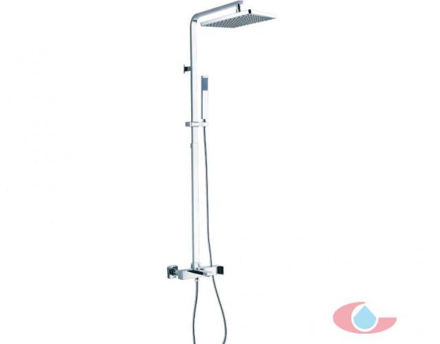 80029 Conjunto baño ducha Tizziano telescopica rociador ABS 25 cm