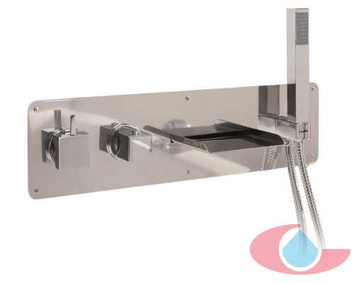 Mezclador termostatico baño mural cascada gaudí