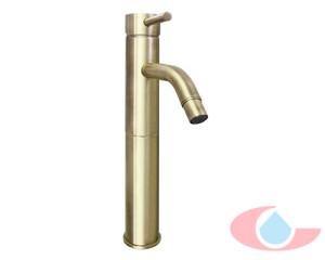 Monomando-lavabo-alto-izas-bronce