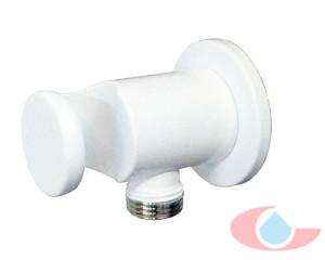 Soporte-de-ducha-Izas-con-toma-de-agua-blanco