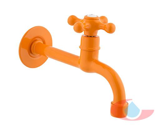 grifo-lavamanos-naranja