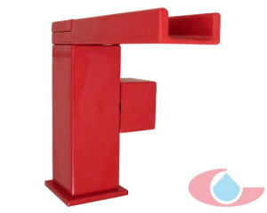 monomando lavabo cascada gaudi rojo