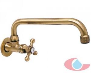 Grifo giratorio un agua ca o alto o bajo bronce 7016 for Grifos rusticos baratos