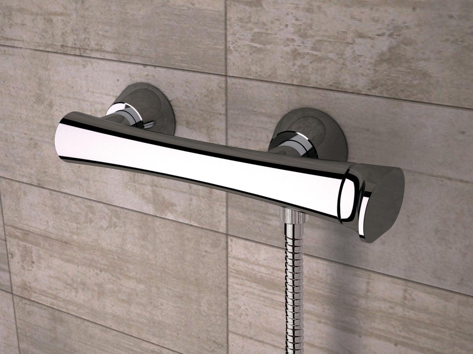 Monomando ducha Athenea , cromo.