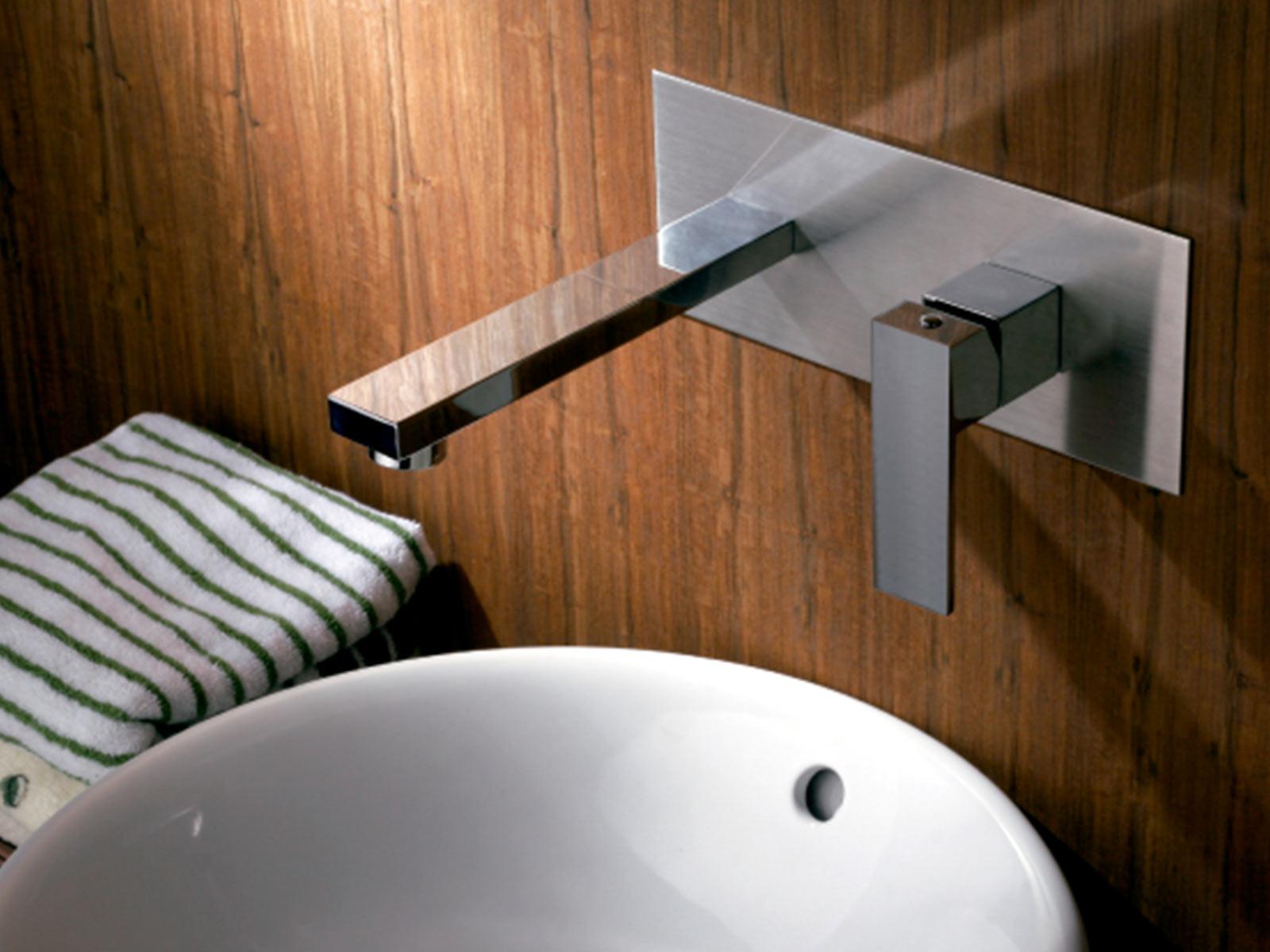 Monomando lavabo de empotrar Tizziano, cromo.