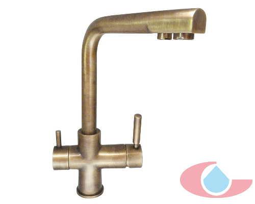 Monomando fregadera osmosis bronce for Grifos rusticos baratos